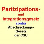 """""""Partizipations- und Integrationsgesetz"""" contra """"Abschreckungsgesetz"""" im bayr. Landtag"""