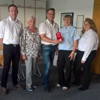 Übergabe Geldspende an BRK Bereitschaft Allersberg Juli 2018